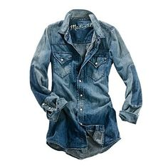 Womens's Madewell_Shop_By_Category - SHIRTS & TOPS - Dustbowl Denim Shirt in Forge Wash - Madewell1937 ($50-100) - Svpply