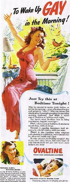 We drank Ovaltine, but mom didn't wake up happy.  It must have worked for June Cleaver.