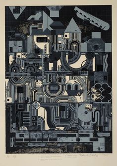"ronulicny:    ""From Early Italian Poets"", 1976   By: SIR EDUARDO PAOLOZZI…."