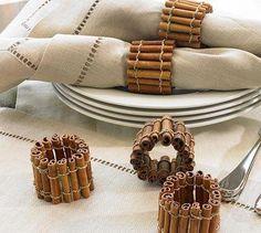 cinnamon stick napkin rings - diy