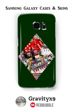 Diamond - Las Vegas Playing Card Shape Samsung Galaxy Cases & Skins (also available for the iPhone) - This #LasVegasIcons design is also printed on fashion, prints, home decor and more at #Redbubble -   a #Gravityx9 Design