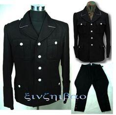 WW2 German Officer Uniform (Black Wool)
