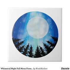 Shop Abstract Night Sky Wood Full Moon digital Painting Faux Canvas Print created by KivahKailani. Moon Art, Canvas Drawing, Night Sky Moon, Sky Painting, Night Skies, Painting, Sky Art, Abstract, Night Sky Painting
