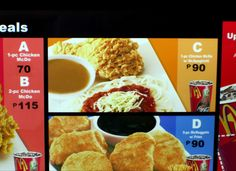 More McDonalds Options: McDonald's has great hamburgers and chicken nuggets, but who knew that they also offered fried chicken, rice and spaghetti in the Philippines? Well, they do! Nothing quite like Chicken McDo with McSpaghetti.
