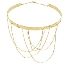 Lana 14K Gold Multi-Chain Choker Necklace (224.135 RUB) ❤ liked on Polyvore featuring jewelry, necklaces, gold, collar necklace, chain link necklaces, flat gold necklace, 14 karat gold necklace and 14k necklace