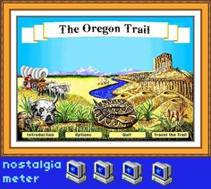 Survival Smarts: The Oregon Trail Game On The Big Screen? Oregon Trail Online, Oregon Trail Game, School Computers, Old Computers, Pioneer Life, Covered Wagon, Drinking Games, My Childhood Memories, 90s Kids