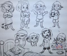 Trying to get the rust off.More of Sami! Character Poses, Kid Character, Character Design, Tomboy Kids, Children's Book Illustration, Illustrations, Sketch Inspiration, Drawing For Kids, Girl Cartoon