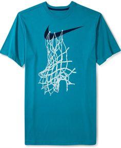 Nike Shirt, Short-Sleeve Graphic Basketball Net T-Shirt - T-Shirts