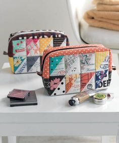 Patchwork Please Cosmetic Cases - Sew Sweetness