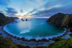 """""""This is the Silence´s in a place where time seems to stop. Beautiful Sunrise, Beautiful Beaches, Portugal, Asturias Spain, What A Beautiful World, Beach Landscape, Natural Wonders, Amazing Nature, Travel Destinations"""