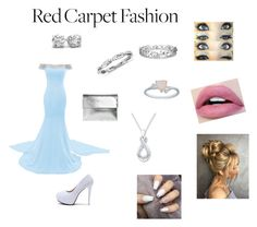 """Red carpet <3"" by megancato ❤ liked on Polyvore featuring WithChic, Boohoo, Blue Nile and Effy Jewelry"