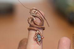Создаем кольцо-змею из проволоки в технике wire wrap - Ярмарка Мастеров - ручная работа, handmade