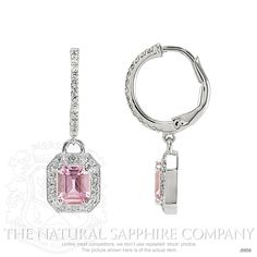 0.87ct Pink Sapphire Earring Image 2