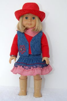 American Girl 18 inch Doll Clothes Red by TwirlyGirlDollDesign, $29.99