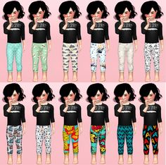 Toddler Leggings by Liaryoullpayforyoursims I love these leggings for my female sims, but now they are for toddlers too, so cute!