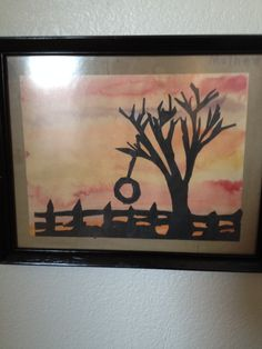 I did this in fourth grade won a contest. This was a tree in our neighbors yard. I remember the teacher kept bringing other teachers in to see it. I guess they liked it.