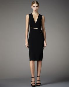 Cutout-Detailed Sheath Dress by Lanvin at Last Call by Neiman Marcus.