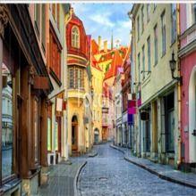Foto-Vertikaljalousie Old town of Tallinn, Estonia  in verschiedenen Größen, blickdicht oder verdunkelnd