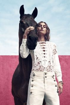 fashion editorials, shows, campaigns & more!: high style: nadja bender by camilla akrans for us harper's bazaar march 2015 Horse Fashion, Fashion Shoot, Editorial Fashion, Fashion Models, Fashion Trends, Fashion Inspiration, Horse Girl Photography, High Fashion Photography, Editorial Photography