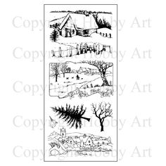 This is the gorgeous new 'Country Walk' set designed by Sharon Bennett for Hobby… Country Walk, Create And Craft, Winter Scenes, Hobbies And Crafts, Clear Stamps, Scrapbook, Coloring Pages, Christmas Cards, Resin