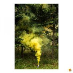 Rauchfackel Gelb  #pyrotechnik #pyro #rauch #rauchfackeln