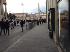 Wiew on Piazza del Popolo from our store e trance