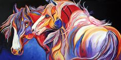 watercolor horse paintings | Contemporary Horse Painting Western Equine Art By Colorado Artist ...