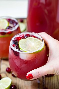 Cranberry Pineapple Punch is my new go to party cocktail. It can be made with or without alcohol and it's perfect for holiday parties!