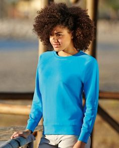 62146 Fruit Of The Loom Lady-Fit Lightweight Raglan Sweat Discounted price until the end of March 2015 just £5.00 want printing or embroidery? We do that too, from just £1.25