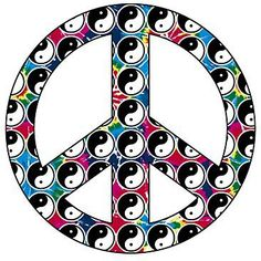 ☯☮ॐ American Hippie Yin and Yang Peace Sign