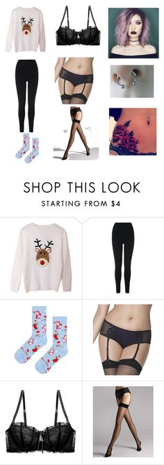 """""""Untitled #190"""" by skymorgan ❤ liked on Polyvore featuring L.K.Bennett, Topshop, Curvy Kate, Heidi Klum Intimates and Wolford"""