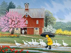 Puddle Jumpers JohnSloaneArt.com - John Sloane - Gallery - Country Kids