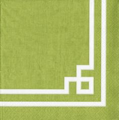 Rive Gauche Moss Green Paper Luncheon Napkins - 20 per package