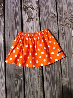 Hey, I found this really awesome Etsy listing at https://www.etsy.com/listing/184634484/girls-twirly-skirt-orange-and-white-or