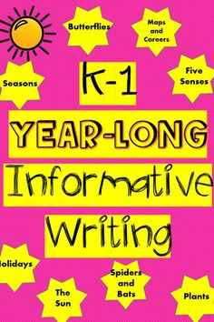 This is an over 30 page bundle of informative/expository writing that will enable young students to write about non-fiction topics.