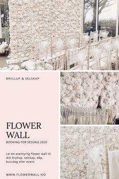 Oh My Blush! Flower Wall - Lei en eventyrlig blomstervegg til deres store dag! Booking er åpen for sesong 2020. #bryllup #bryllupsfotograf #blomstervegg Blush, Blushes, Blush Dupes