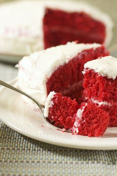 Moist, fluffy and sinfully delicious! Red Velvet Cake Gluten Free Dairy Free