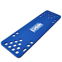 The pool pong foam table in blue.