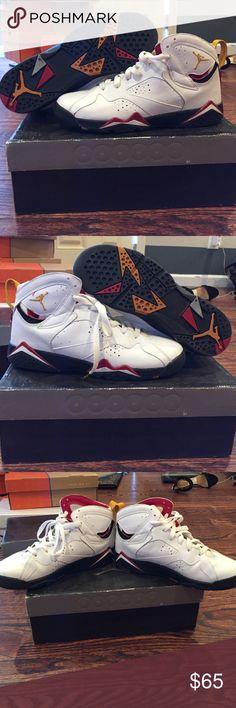 """Cardinal"" 2006 Air Jordan VII sz 7Y Classic!! Worn 3x, Euro sz 40 Jordan Shoes Sneakers"