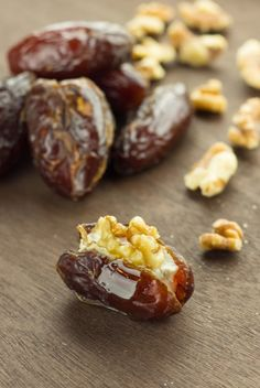 Honey Goat Cheese Dates with Walnuts