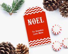 EDITABLE Christmas gift tags Christmas Gift Tags Printable