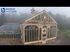 Conservatory / Greenhouse At Corporation Park - Aerial Drone   Blackburn From Above - YouTube