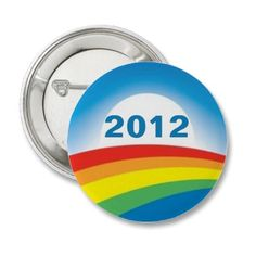 Show your support for President Obama for 2012 with this gay pride version of the Obama logo.