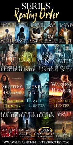 Reading order for Elizabeth Hunter series Teen Fantasy Books, Teen Romance Books, Paranormal Romance Books, Romance Novels, Book Nerd, Book Club Books, Book Lists, Book Series, Best Books To Read