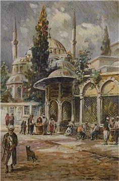 Alif Art  Wladimir Petroff  45.50 x 30.00 cm.  17.91 x 11.81 in.  Oil on canvas  Signed