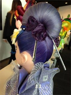TAKE OVER: Cosmetology Students Go Abroad Tokyo mannequin work. Work Hairstyles, Creative Hairstyles, Braided Hairstyles, Peinado Updo, Competition Hair, Cosmetology Student, Crazy Hair Days, Fantasy Hair, Fantasy Makeup