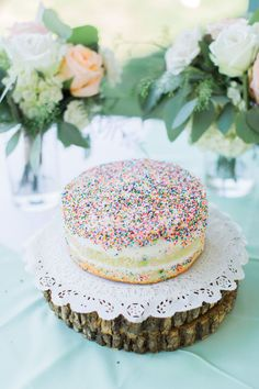 Fun confetti cake from Ceres Bakery. Photo by Mon Petit Studio.