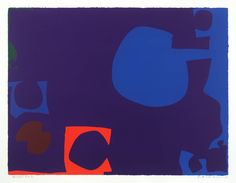 Artwork page for 'Blue and Deep Violet with Orange, Brown and Green : April Patrick Heron, 1970 Abstract Expressionism, Abstract Art, Patrick Heron, Post Painterly Abstraction, Art Informel, Funky Art, Art Auction, Artist Art, Cool Artwork