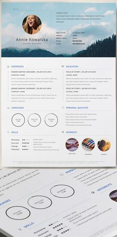 Free Minimalistic Resume/CV Template (AI):                              …