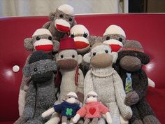 My Sock Monkeys! by Princess Monkey, via Flickr